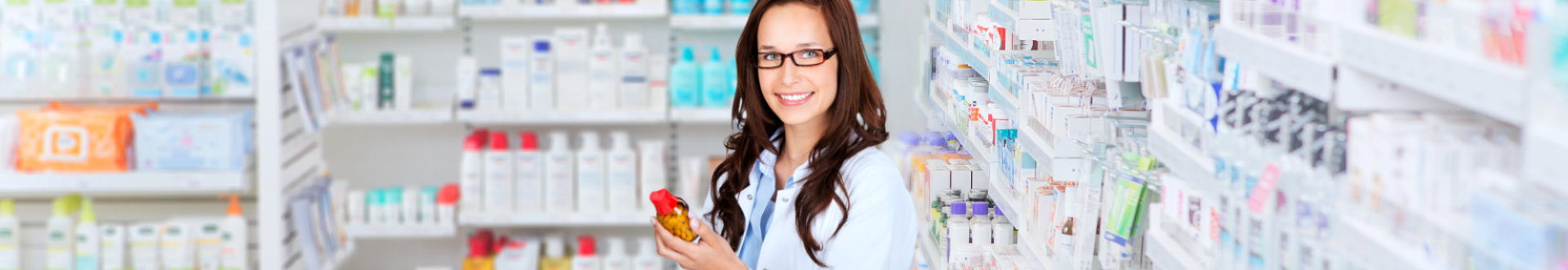 a pharmacist holding medicine